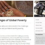 Challenges of Global Poverty on EdX